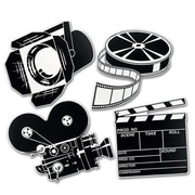 "Beistle 16"" Movie Set Cutouts, Black/White, 12/Pack"