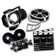 "Beistle 16"" Movie Set Cutouts, Black/White, 12/Pack"