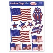 """Beistle 12"""" x 17"""" Patriotic Clings, 77/Pack"""