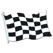 Beistle 18 Checkered Flag Cutouts, 9/Pack