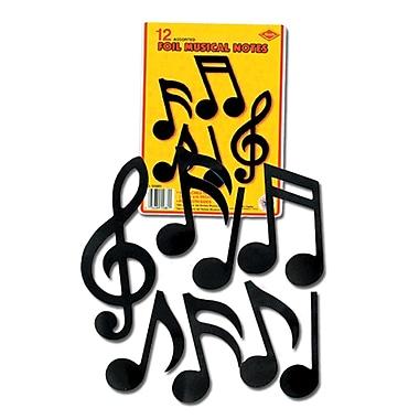 Figurines en aluminium en forme de note de musique, 5 po à 10 po, 24/paquet