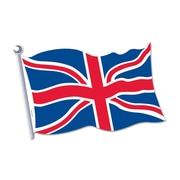 Beistle 18 British Flag Cutouts, 9/Pack