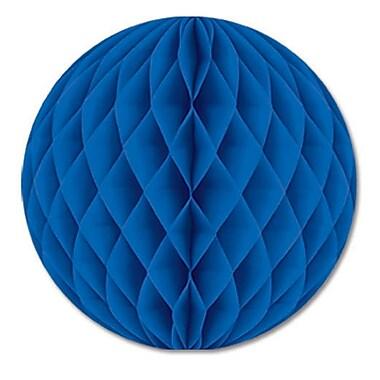 Boule en papier, 12 po, bleu, 4/paquet