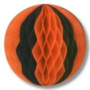 """Beistle 12"""" Tissue Ball, Orange/Black, 4/Pack"""