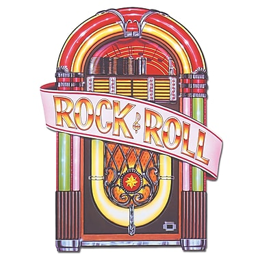 Découpe juke-box « Rock and roll », 3 pi, paq./3