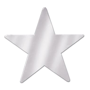 Metallic Star Cutouts, 3-3/4