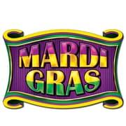 "Beistle 11"" x 17"" Mardi Gras Sign, 9/Pack"