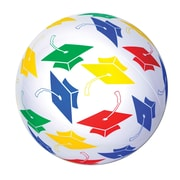 """Beistle 16"""" Inflatable Grad Beach Ball, Multicolor, 3/Pack"""
