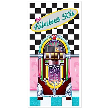 Affiche de porte « The Fabulous 50's », 30 po x 5 pi, paq./3