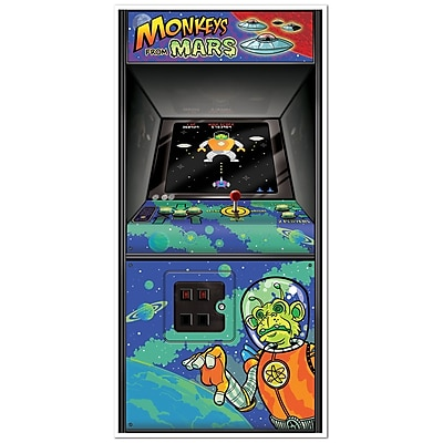 Beistle 30 x 5' Arcade Game Door Cover, 3/Pack