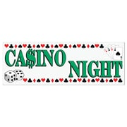 "Beistle 5' x 21"" Casino Night Sign Banner, 3/Pack"