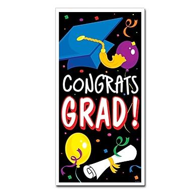 Affiche pour porte « Congrats Grad », 30 po x 5 pi, paquet de 3