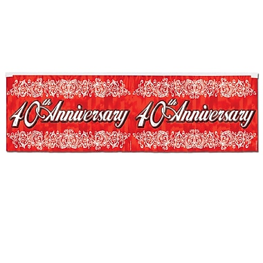Metallic 40th Anniversary Fringe Banner, 14