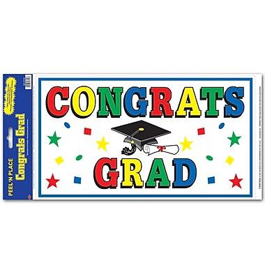 Feuilles « pelez et placez » « Congrats Grad », 12 x 24 po, paquet de 3
