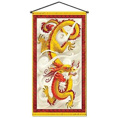 Affiche de porte/murale de dragon, 30 po x 5 pi, 2/paquet