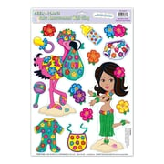 "Beistle 12"" x 17"" Hula Baby Peel 'N Place Sticker, 56/Pack"