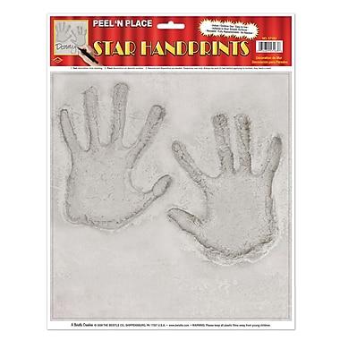 Empreintes de main vedettes Peel 'N place, 12 x 15 po, 5 feuilles