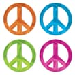 Beistle Metallic Peace Sign Silhouettes Cutouts, 12in., 12/Pack