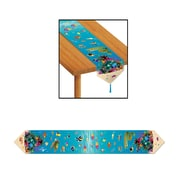 "Beistle 11"" x 6' Printed Under The Sea Table Runner, Light Blue, 4/Pack"