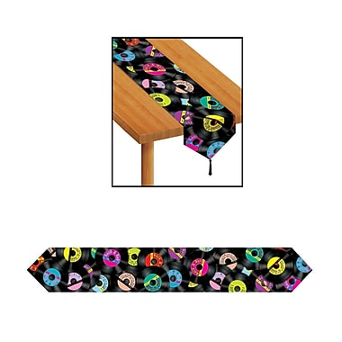Beistle Printed Rock & Roll Table Runner, 11