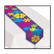 "Beistle Printed Retro Flowers Table Runner, 11"" x 6', 4/Pack"