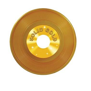 Disque vinyle en plastique, 19 po, doré, 2/paquet