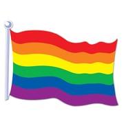 Beistle 18 Rainbow Flag Cutouts, 9/Pack