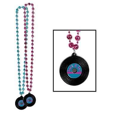 Rock and Roll Record Medallion On Bead, 36