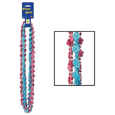 Colliers de perles en forme de fleur, 33 po, 18/paquet