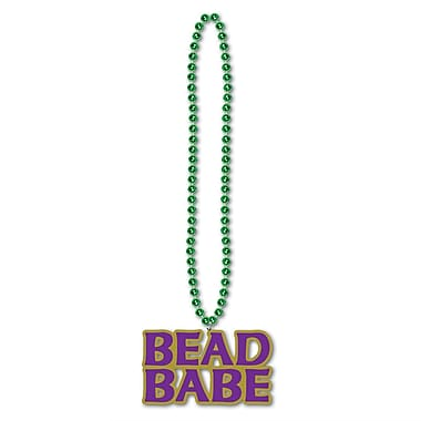 Beistle Beads Necklace With Babe Medallion, 36