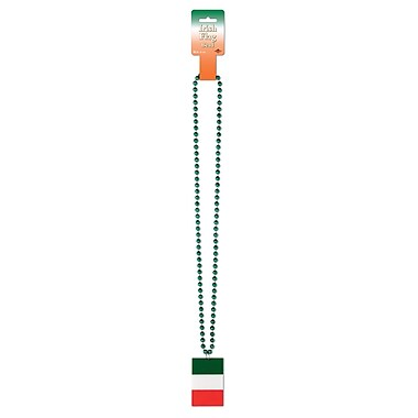 Beads With Printed Irish Flag Medallion, 36