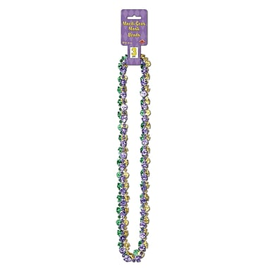 Beistle Mardi Gras Mask Beads Necklace, 33