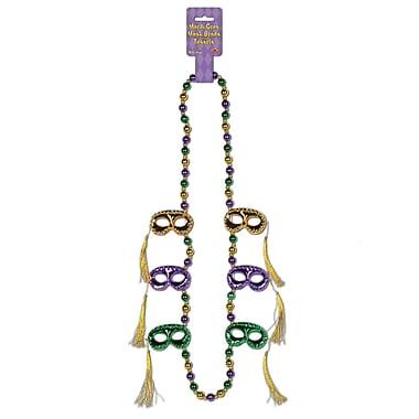 Perles à masques avec pampilles, 40 po, paq./2