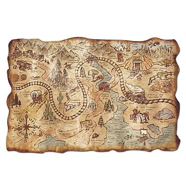 Carte au trésor mine d'or en plastique, 12 x 18 po, 5/paquet