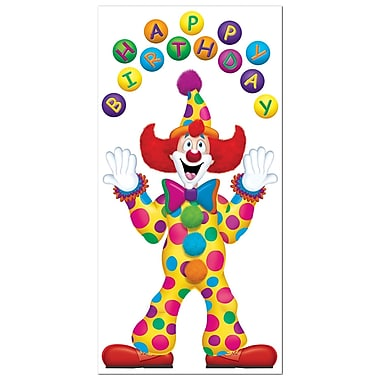 Birthday Clown Door Cover, 30