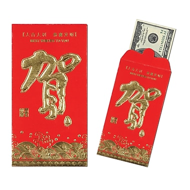 Red Pocket Money Envelopes, 3-1/2