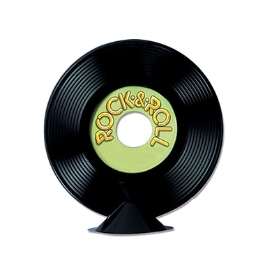 Personalize Plastic Record Centerpiece, 9