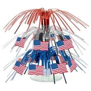 "Beistle 7 1/2"" Flag Mini Cascade Centerpiece, 4/Pack"