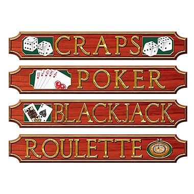 Casino Sign Wall Plaques, 5