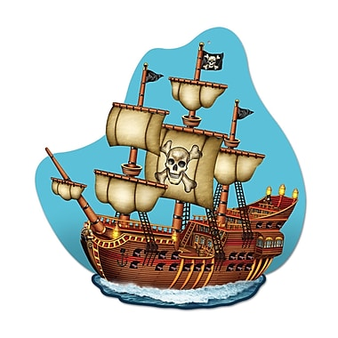 Pirate Ship Wall Plaque, 15