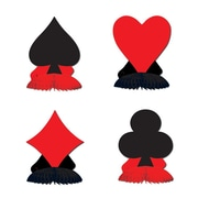 """Beistle 4 1/2"""" Card Suit Playmates, Red/Black, 12/Pack"""