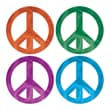 Beistle Foil Peace Sign Cutouts, 18in., 24/Pack