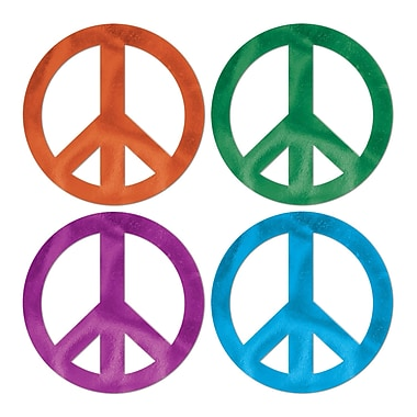 Foil Peace Sign Cutouts, 18
