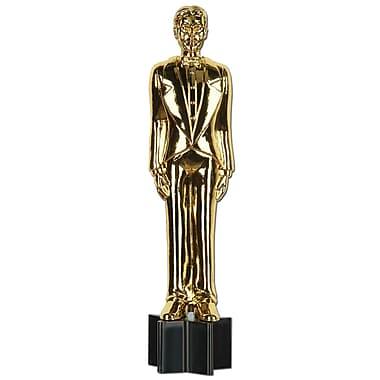 Découpe statuette articulée mâle de soirée de remise de prix, 5 pi 6 po, paquet de 2