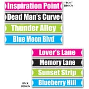Beistle Rock and Roll Street Sign Cutouts, 4 x 24, 12/Pack