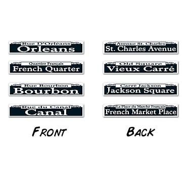 Mardi Gras Street Sign Cutouts, 4