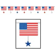 Beistle 16 x 12' Flags and Stars Banner, 3/Pack