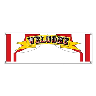 Welcome Sign Banner, 5' x 21