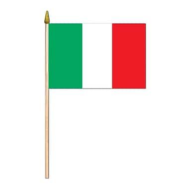 Drapeau italien en rayonne, 4 x 6 po, 13/paquet