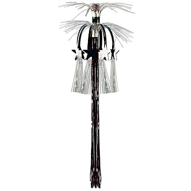 Star Cascade Hanging Column, 3', Black & Silver, 4/Pack